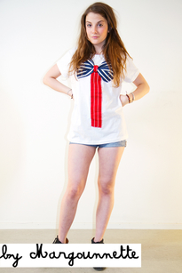 by Margounnette Sailor Bow t-shirt