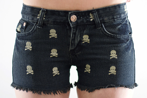 Scull VINTAGE denim shorts
