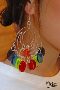 MIKIKO clown earrings