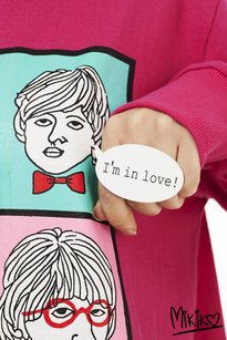 I'm in love speechbubble ring