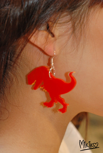 MIKIKO T-rex earrings