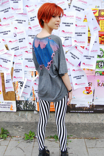 Feather t-shirt grå