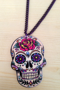 Suger skull necklace