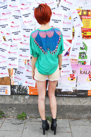 Feather t-shirt grön