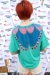 Feather t-shirt grn