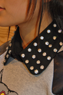 Chrystal collar black