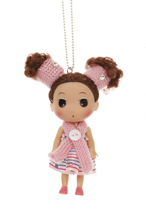 Cute as a doll necklace pink