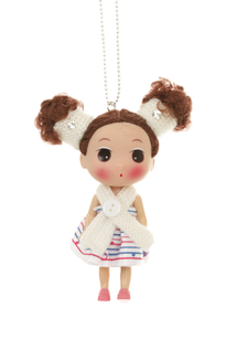 Cute as a doll necklace white